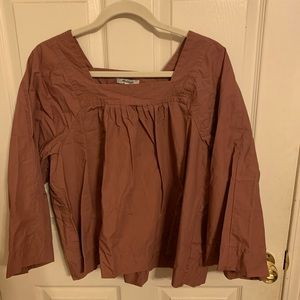 Square Neck Madewell Blouse - Large